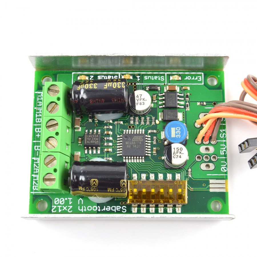 Arduino Code Sabertooth 2x12A Motorcontrollerboard