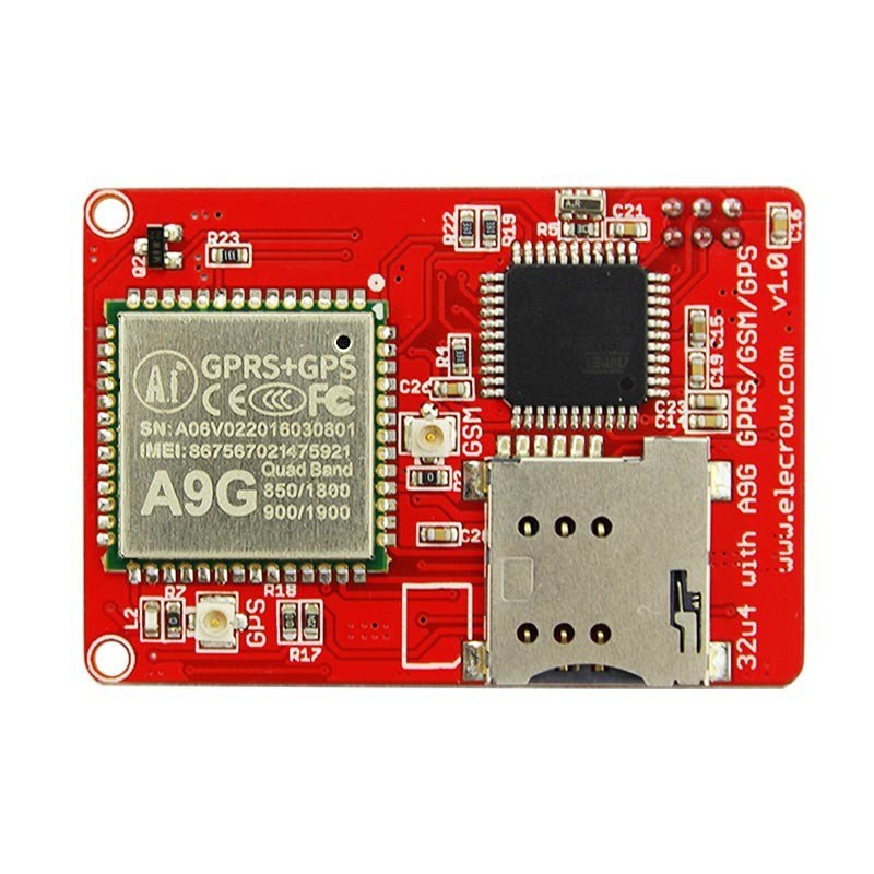 Arduino Atmega32u4 A9 GPRS/GSM/GPS Board