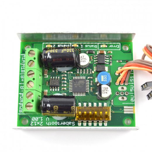 Sabertooth 2x12A/6-24V RC Motorcontrollerboard